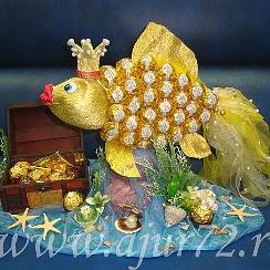Поделка золотой рыбки 68