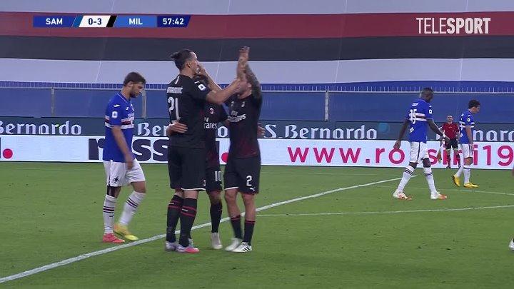 Сампдория  1-4  Милан видео