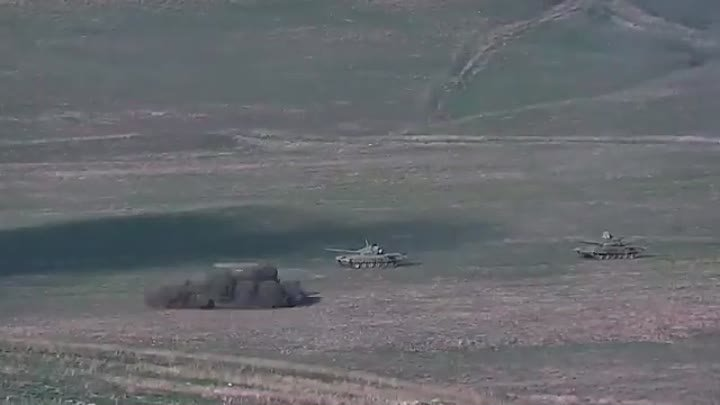 Destruction of assaulting Azerbaijani tanks and manpower.