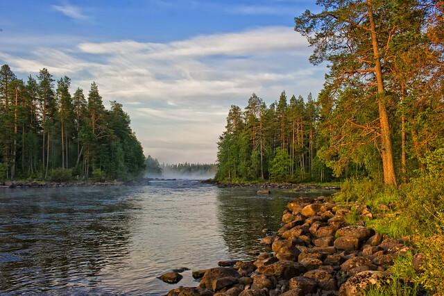 Река Чирка-Кемь, Россия