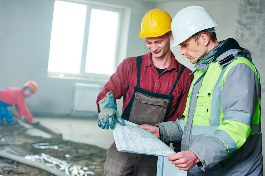 строительные работы в жилом