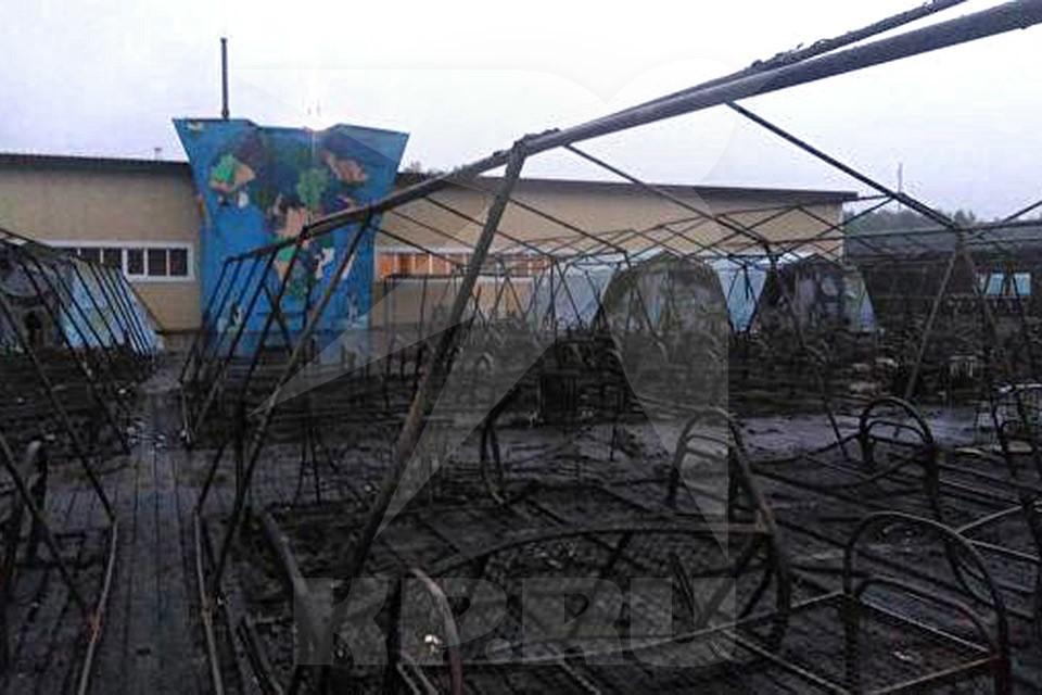 Из-за пожара в детском палаточном лагере в Хабаровском крае возбуждено уголовное дело