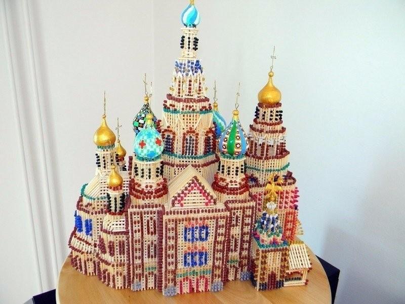 Храм из спичек своими руками