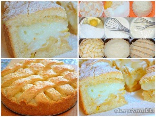 Бисквитный пирог с заварным кремом рецепт с пошагово