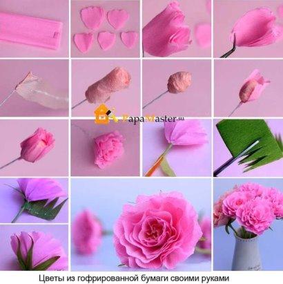 Как сделать цветы из бумаги страна мастеров