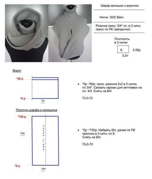 Капюшон шарф своими руками