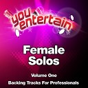 You Entertain - Me, Myself & I (Professional Backing Track) (In the Style of Beyoncé)