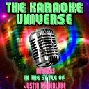The Karaoke Universe - Mirrors Karaoke Version In the Style of Justin Timberlake