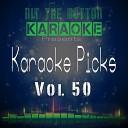 Hit The Button Karaoke - Leave a Light On Originally Performed by Tom Walker Karaoke Version