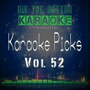 Hit The Button Karaoke - Don t Stay Originally Performed by X Ambassadors Karaoke Version
