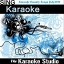The Karaoke Studio - Please Remember Me In the Style of Scotty McCreery Instrumental Version