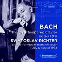 Sviatoslav Richter - Book II Prelude and Fugue No 9 in E Major BWV 878