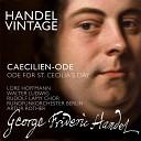 Rundfunkorchester Berlin - Caecilien Ode HWV 76 X Air and Chorus Wie Einst Durch Heil ger Lieder Macht Remastered