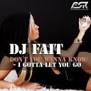 Dj Fait - Don 039 t You Wanna Know Radio Edit