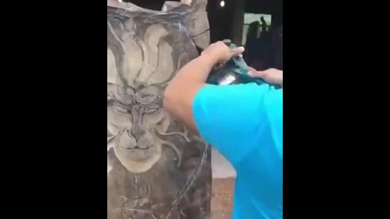 Деревянная скульптура Король обезьян