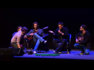 Джаред играет на гитаре, а Дженсен поёт (русские субтитры).webm