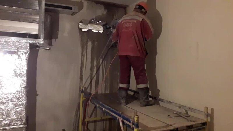 Шереметьевская Бурим стену под венткороб декабрь 2020