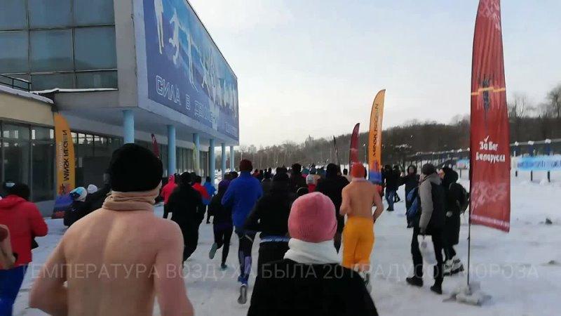 Каково это бежать 5 км в 20 градусов мороза Житель Слуцка поучаствовал в крещенском забеге