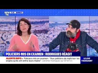 Quand la journaliste voulait détourner le propos mais Jérôme Rodrigues l'a interrompue