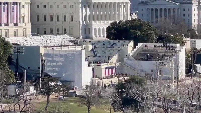 Леди Гага сегодня 19 в Капитолии в Вашингтоне на репетиции инаугурации Джо Байден и Камала Харрис