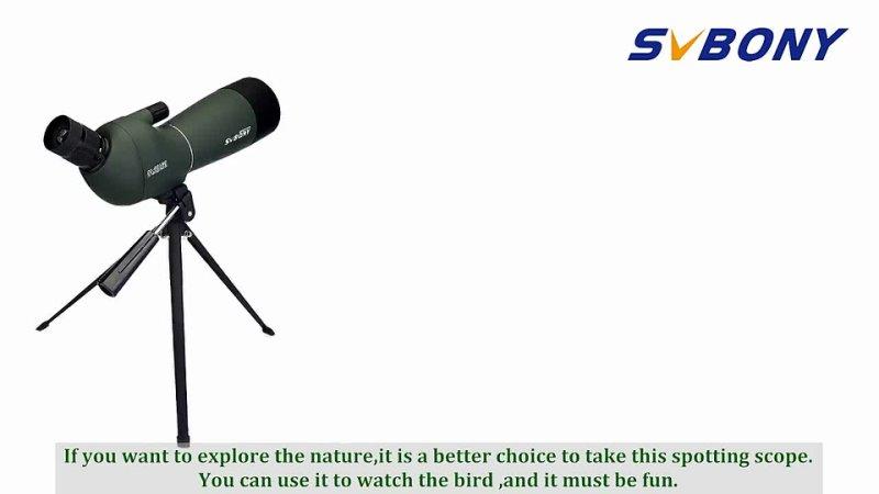 Svbony SV28 50 60 70mm HD Powerful Telescope Hunting Spotting Scope Zoom Monocular Binoculars w Phone Adapter Mount for Camping