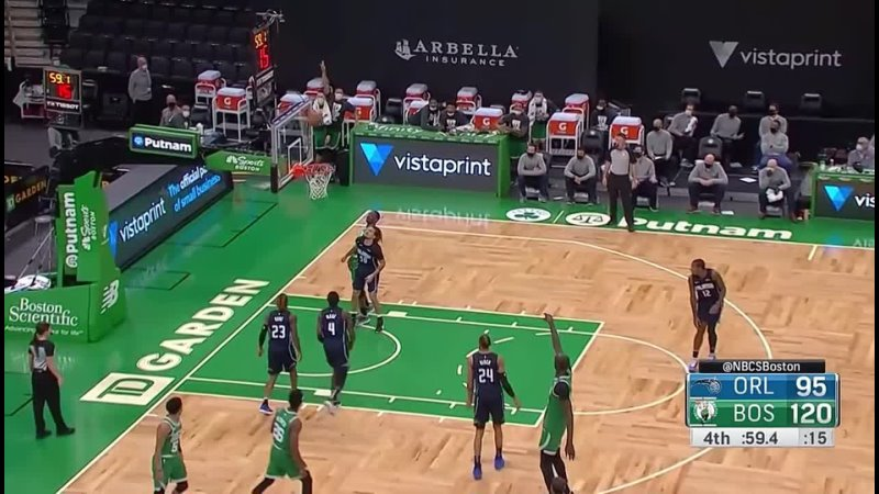 Celtics Bench Goes Wild After Tacko Fall Banks In