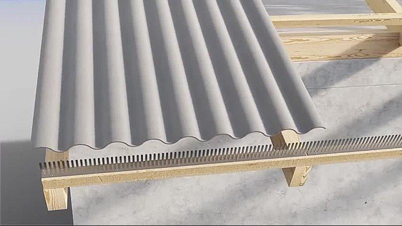 Instrukcja montażu płyty falistej EuroFala B59 konstrukcja drewniana 480P mp4