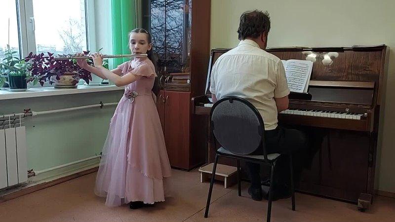 3А класс Степакова Таня С С Прокофьев Танец девушек с лилиями инструментальное исполнительство