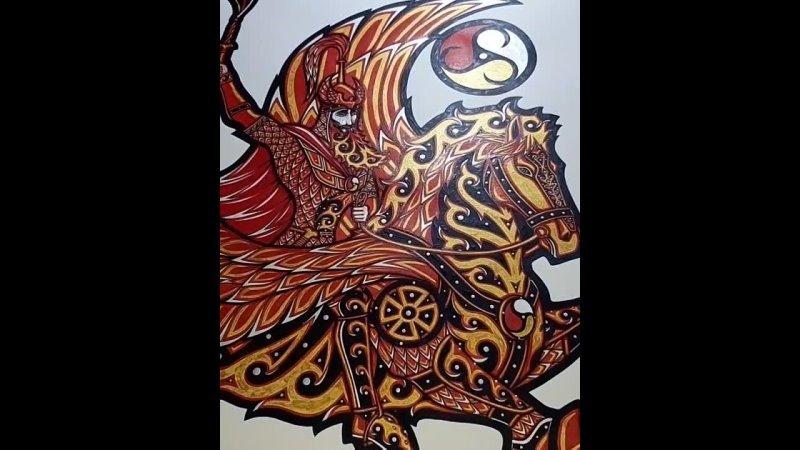 Картина Уаскерги Фрэд Ас Бетанти Цена 18т р Решил исправить свою ошибку прикрыв одну ногу лошади Думал обыграть это тре