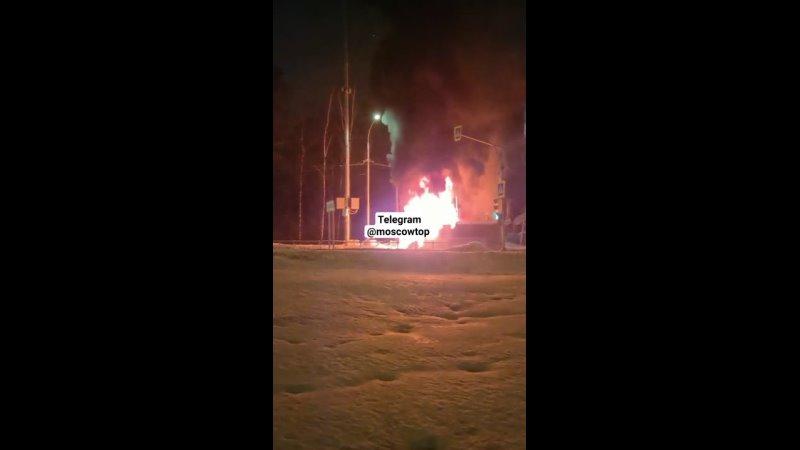 Автобус горит mp4