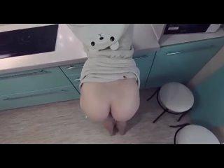 Жёстко наказал малышку секс на кухне