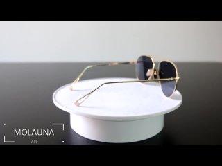 Molauna ретро пилот солнцезащитные очки женские брендовые дизайнерские роскошные оттенки зеркальные