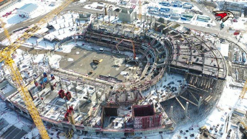 НОВАЯ АРЕНА В ОМСКЕ: ИТОГИ МАРТА | Строительство «Арены Омск» | Новый дом Авангарда