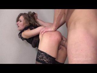 Русскую высокую стройную девушку Anastasia Mistress в чулках на каблуках выебали трахнули в анал жопу попу порно секс жесткое с