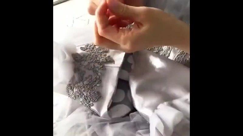 Декорируем лиф бисером и элементами кружева 😍