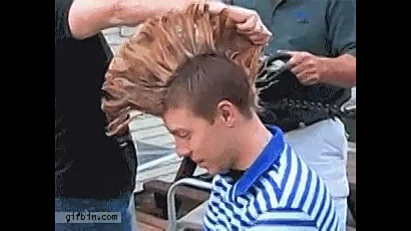 Redneck mohawk hair cutting