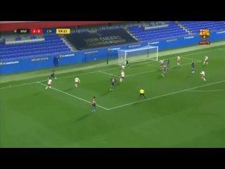 Голевой пас Конрада в матче с Оспиталетом(6:0)
