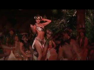 """Beautiful Jacqueline Obradors performing exotic dance (Фильм """"Шесть дней ,семь ночей"""" 1998)"""