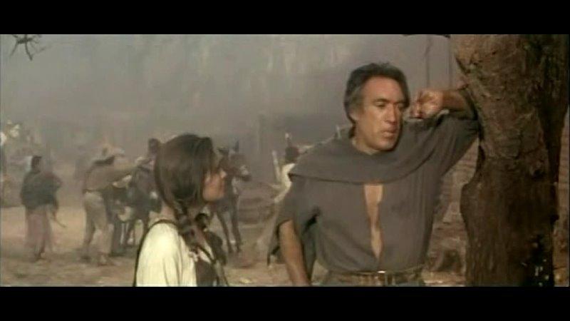 Энтони Куинн в фильме Битва при Сан Себастьяне Вестерн США Франция Италия Мексика 1968
