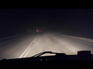 дорога из севера домой минус 30, за бортом, гололёд, снегопад, метель)))