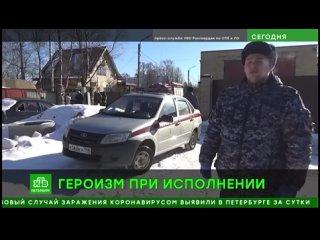 ТК НТВ программа Сегодня в Санкт-Петербурге - сотрудники Колпинского МОВО организовали эвакуацию граждан из горящего здания