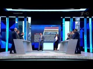 Екатерина Стриженова упала в прямом эфире в программе Время Покажет Первый канал HD