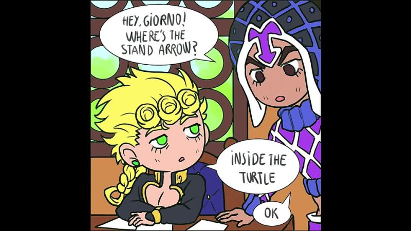 JOJO COMIZ Wheres the stand arrow JOJO comic dub