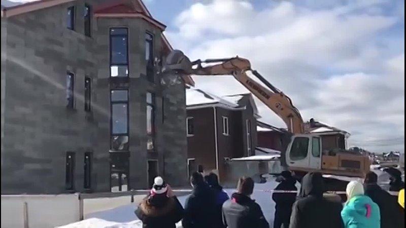 Государство начало сносить дома в Потапово