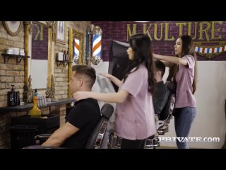 Anya Krey, Clea Gaultier - Orgy At The Salon (Anal, MILF, Orgy, Group Sex, Big T