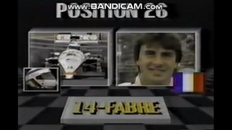 Detroit 87 Eddie Cheever onboard starting grid