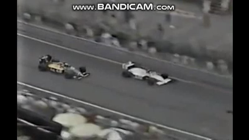 Detroit 87 Teo Fabi Eddie Cheever crash