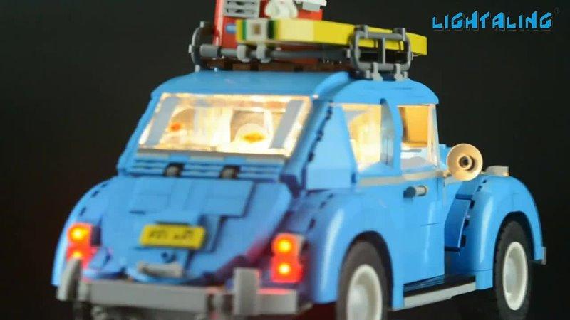 Светодиодный светильник aling, набор для 10252 creator volkswagen beetle, светильник ing, совместимый с 21003