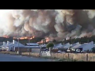 Лесной пожар в Патагонии (Аргентина, )