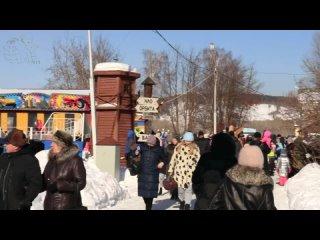 """Праздничные гуляния по случаю проводов Масленицы. """"Парк Чудес"""" города Кемерово, 14 марта 2021 года."""